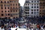 taken from the Spanish Steps looking down on a sea of tourists